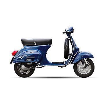 Blue Vespa Primavera ET3 by redstar5