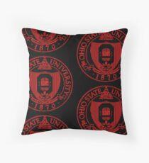 The Ohio State University Scarlet Black, 1870 Floor Pillow