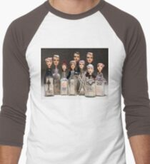 Group shot - Bottle Portraits Baseball ¾ Sleeve T-Shirt