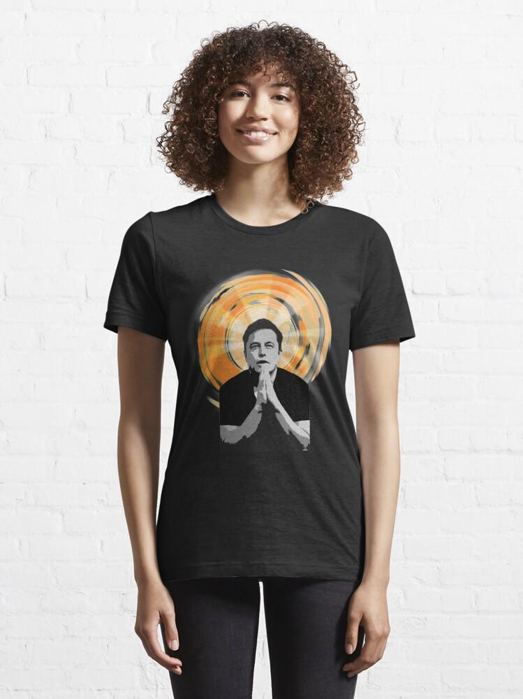 Alternate view of In Elon Musk We Trust Essential T-Shirt