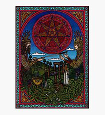 Yule One, the Holly King gives way to the Oak King Photographic Print