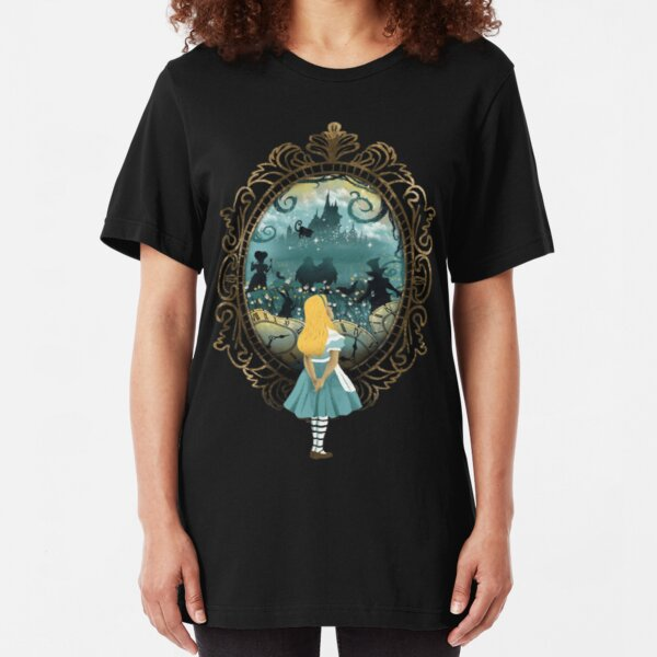 Alice in Wonderland Slim Fit T-Shirt
