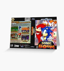 Sonic Boom Genesis Greeting Card