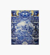 Wall of Tiles - HD - A alla dos Namorados (Lover s place) - Porto Station (Portugal)  Art Board