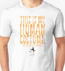 This Is My Human Costume I`m Really A Unicorn Witch T-Shirt