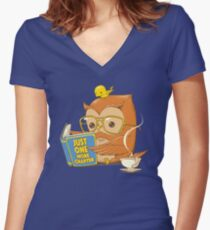 Just One More Chapter Women's Fitted V-Neck T-Shirt