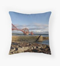 Forth Bridge from North Queensferry Throw Pillow