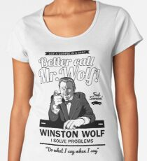 Better call Mr. Wolf Women's Premium T-Shirt