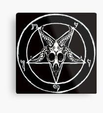 Baphomet Pentagram Metal Print