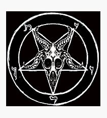 Baphomet Pentagram Photographic Print