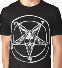 Baphomet Pentagram Graphic T-Shirt
