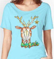 Minimalist Reindeer - Cerf Minimaliste  Women's Relaxed Fit T-Shirt