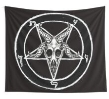 Baphomet Pentagram Wall Tapestries By Shayneofthedead Redbubble