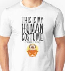 This Is My Human Costume Pug Halloween Pumpkin T-Shirt
