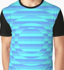 Cool Colored Striped Illusion Design! Graphic T-Shirt