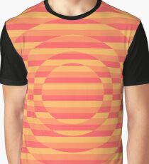 Warm Colored Striped Illusion Design! Graphic T-Shirt