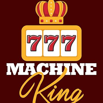 Mens Casino Shirt Machine King Gift Tee For Slots Players Design by artbyanave