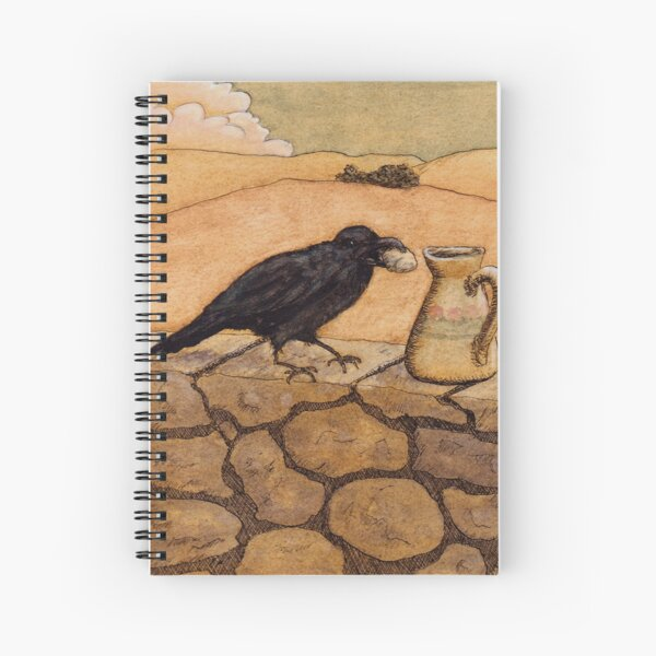 Aesop's Fable Crow and Pitcher Spiral Notebook