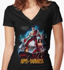 army of darkness Women's Fitted V-Neck T-Shirt