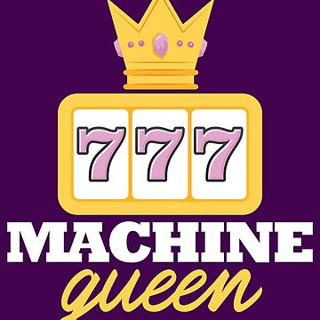Casino Shirt Machine Queen Gift Tee For Slots Players Design by artbyanave