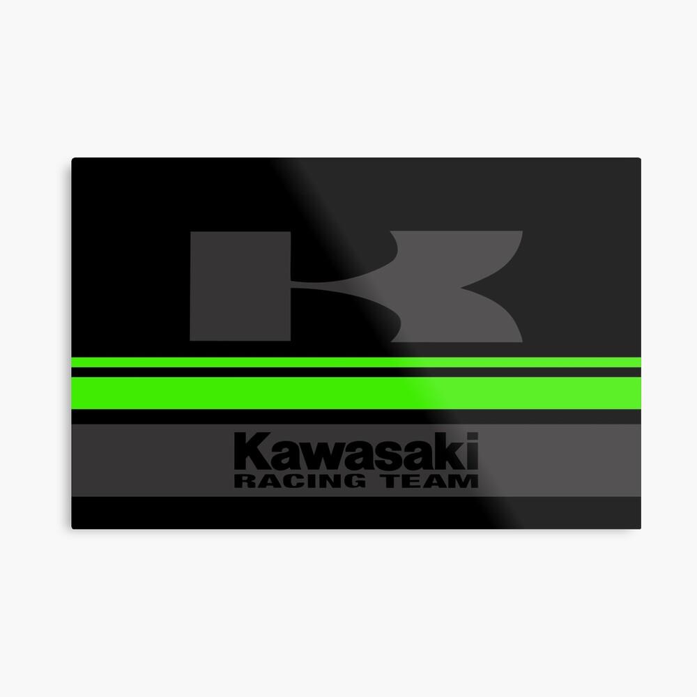 KAWASAKI Team Metal Print