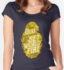 Set the World on Fire - St. Catherine of Siena Women's Fitted Scoop T-Shirt