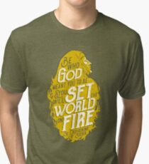 Set the World on Fire - St. Catherine of Siena Tri-blend T-Shirt