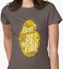 Set the World on Fire - St. Catherine of Siena Women's Fitted T-Shirt