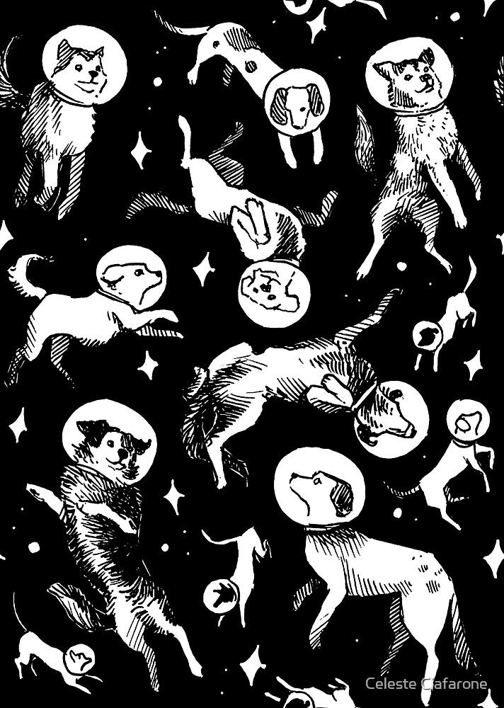Raum Hunde (schwarzer Hintergrund) von Celeste Ciafarone