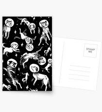 Raum Hunde (schwarzer Hintergrund) Postkarten