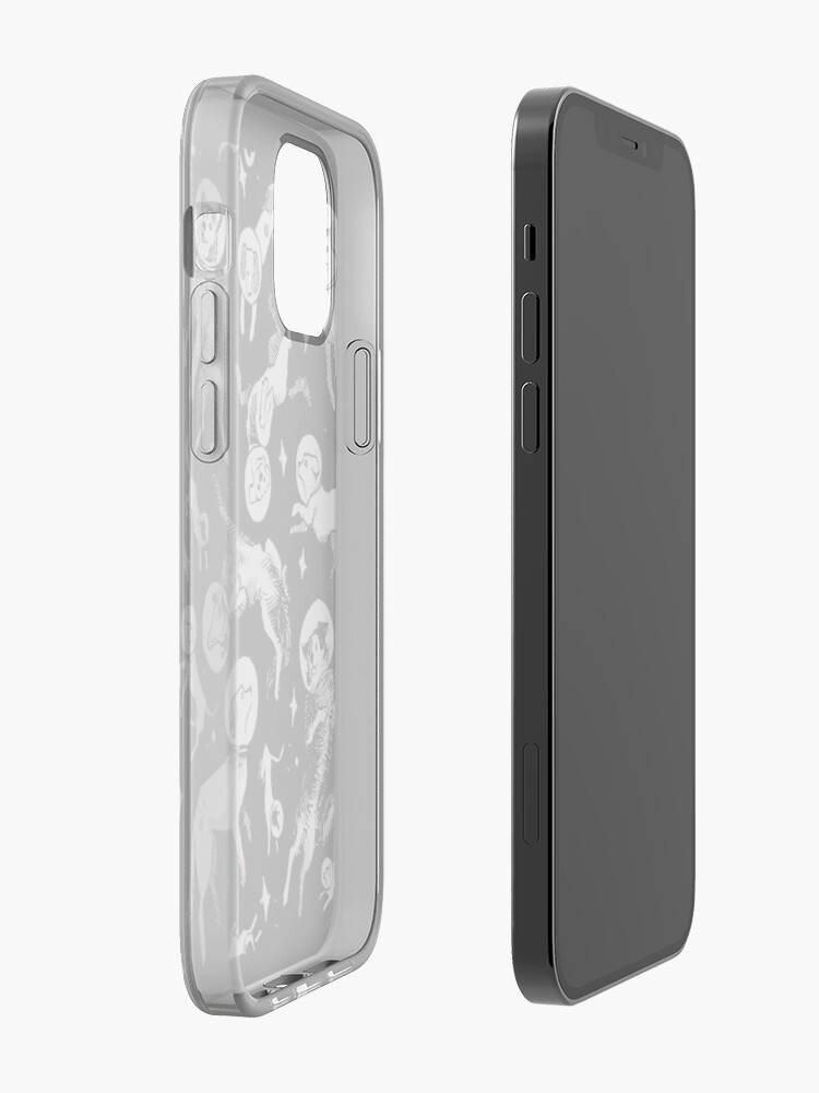 Alternate view of Space dogs (black background) iPhone Case & Cover