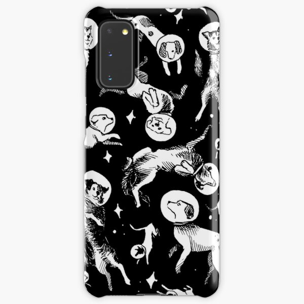 Space dogs (black background) Samsung Galaxy Snap Case