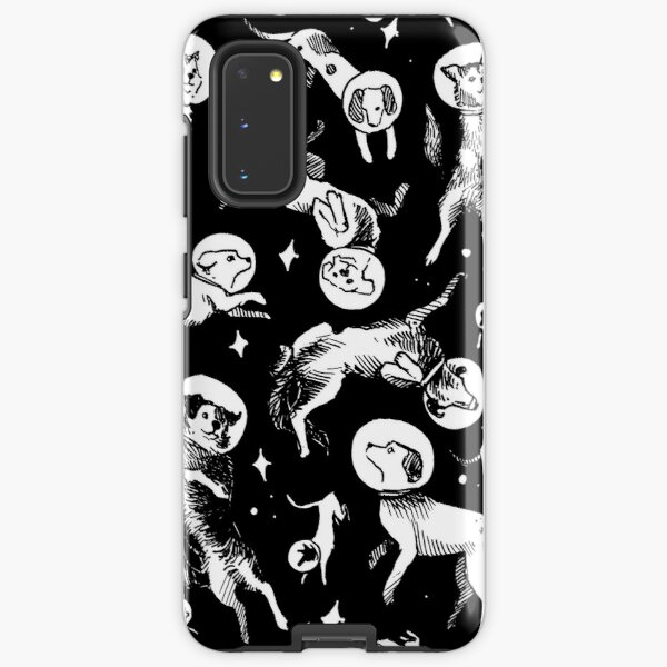 Space dogs (black background) Samsung Galaxy Tough Case