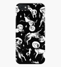 Space dogs (black background) iPhone SE/5s/5 Case