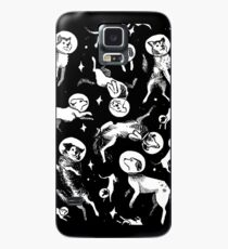 Space dogs (black background) Case/Skin for Samsung Galaxy