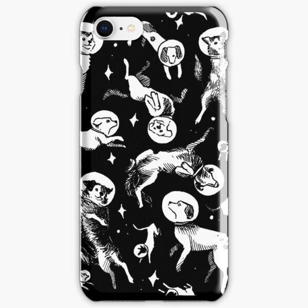 Space dogs (black background) iPhone Snap Case