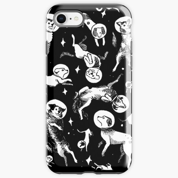 Space dogs (black background) iPhone Tough Case