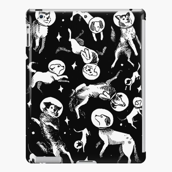 Space dogs (black background) iPad Snap Case