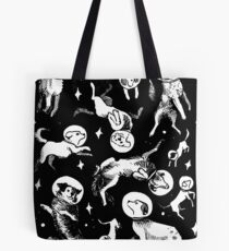 Bolsa de tela Space dogs (black background)