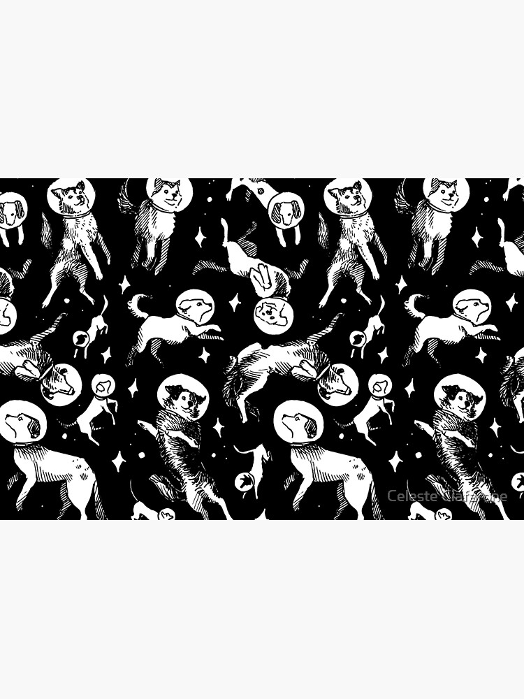 Space dogs (black background) by celestecia