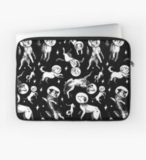 Space dogs (black background) Laptop Sleeve