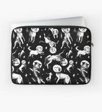 Raum Hunde (schwarzer Hintergrund) Laptoptasche