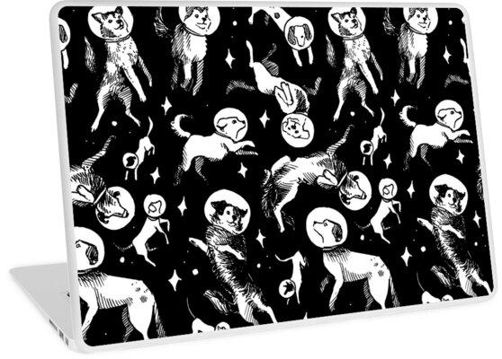 Space dogs (black background) by Celeste Ciafarone