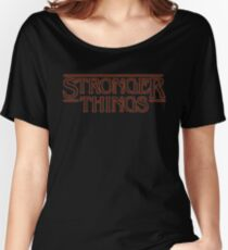 Stronger Things Parody Athletic Fitness Workout Gym T-Shirt Women's Relaxed Fit T-Shirt