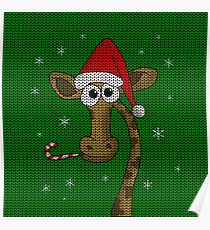 Christmas Giraffe  Poster