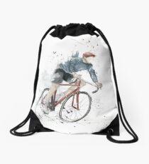 I want to ride my bicycle Drawstring Bag