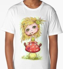 Girl on Mushroom Long T-Shirt
