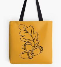 Fall Acorns and Oak Leaves Tote Bag