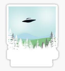 I Want To Believe X-Files Poster Fan Art Sticker
