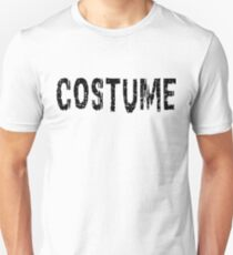 Halloween T-Shirt That Says Costume Funny Print Graphic Tee Top Black T-Shirt